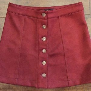 Forever 21 faux suede mini skirt